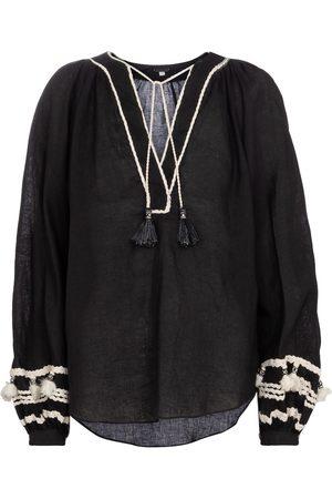 JOHANNA ORTIZ Women Blouses - Cursos Del Rio linen and cotton blouse