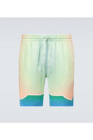Casablanca Lucid Dreams printed silk shorts