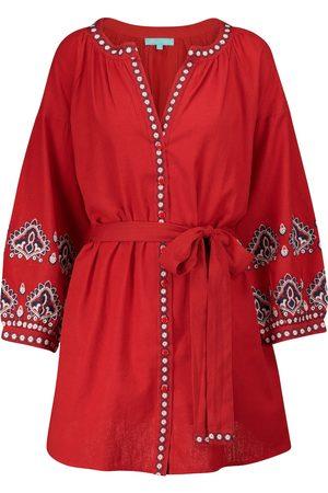Melissa Odabash Women Beach Dresses - Tania cotton and linen kaftan
