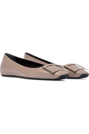 Roger Vivier Women Ballerinas - Trompette leather ballet flats