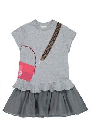 Fendi Printed cotton dress