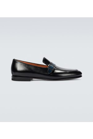 santoni Pamesa leather loafers