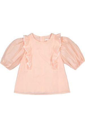 Chloé Ruffled cotton poplin top