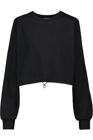 Frankie Shop Women Sweatshirts - Cropped cotton sweatshirt