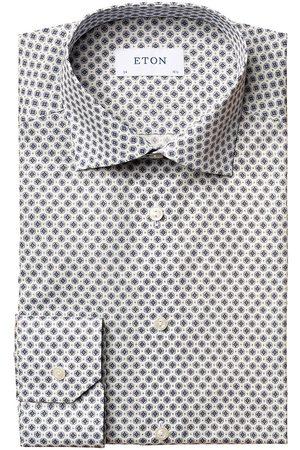 Eton Men Business - Men's Contemporary-Fit Medallion Print Dress Shirt - - Size 16
