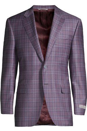 CANALI Women Blazers - Women's Windowpane Wool Sportcoat - - Size 38