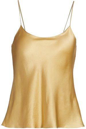 Adriana Iglesias Women Camisoles - Women's Java Silk Camisole Top - Stone Silk - Size 4