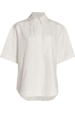 Loulou Studio Women's Oversized Short-Sleeve Shirt - - Size XS
