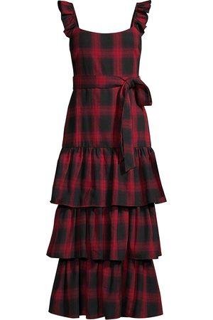 LIKELY Women Midi Dresses - Women's Charlotte Plaid Ruffle Midi Dress - Multi - Size 6