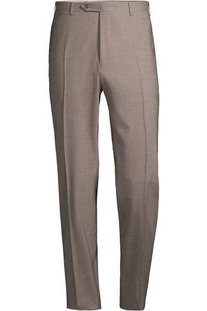 CANALI Women Stretch Pants - Women's Stretch Wool Trousers - Light - Size 40