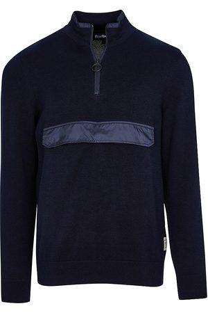 Barbour Men's Cartfile Half-Zip Sweater - Navy - Size Medium