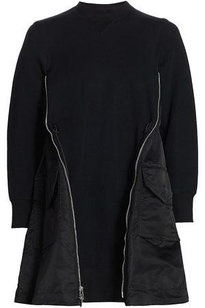 SACAI Women's Sponge Sweat X Ma-1 Dress - - Size Small