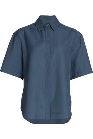 Loulou Studio Women Short sleeves - Women's Oversized Short-Sleeve Shirt - - Size Large