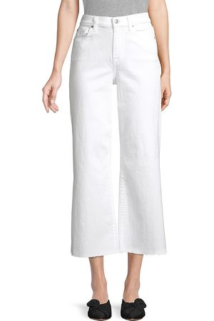 7 for all Mankind Women Wide Leg - Women's Alexa Mid-Rise Cropped Wide-Leg Jeans - Runway - Size Denim: 32