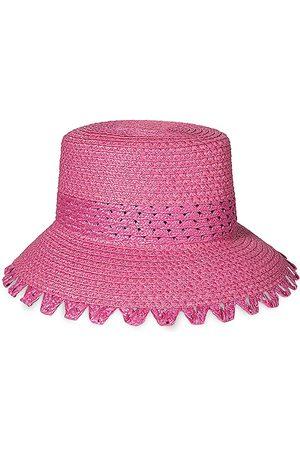 Eric Javits Women's Squishee Mita Picot Edge Bucket Hat - Raspberry