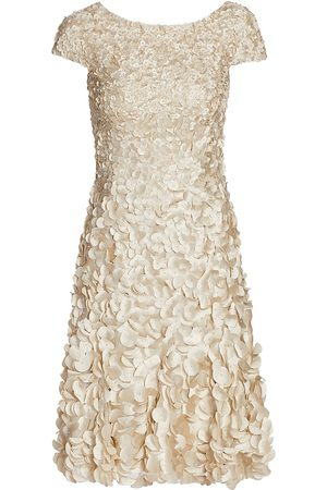 THEIA Women Evening dresses - Women's Petal Dress - Champagne - Size 14