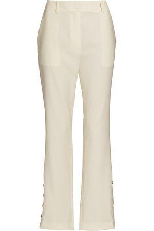 Loulou Studio Women Pants - Women's Button Cuff Pants - Ivory - Size Medium