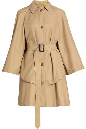 Moncler Genius Women's 1 Moncler JW Anderson Washed Military Cotton Dungeness Trench Jacket - Khaki - Size Large