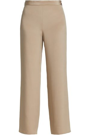 The Row Women Pants - Women's Ole Satin Crepe Pants - Warm Taupe - Size 10