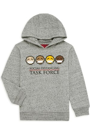 MOSTLY HEARD RARELY SEEN Boys Hoodies - Little Boy's & Boy's Mini Task Force Hoodie - Heather Grey - Size 6