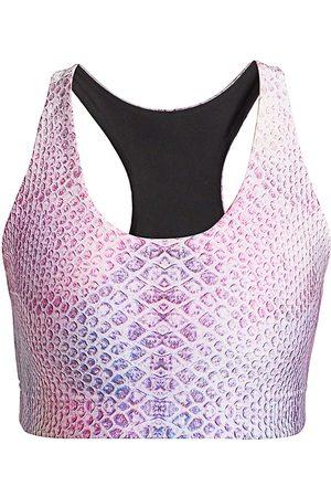 Terez Women Sports Bras - Women's Reversible Python-Print Sports Bra - Python - Size Medium