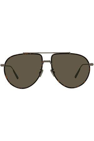 Dior Men Sunglasses - Men's BlackSuit 58MM Pilot Sunglasses - Shiny Metal