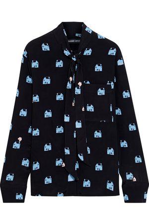 Markus Lupfer Women Long sleeves - Woman Abbie Printed Crepe De Chine Shirt Size 10