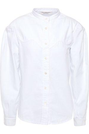 Serafini Woman Denim Shirt Size 38