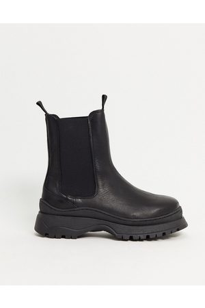 Selected Femme chunky boots in black