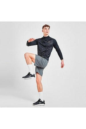 Under Armour Men Shorts - Men's Halfback Shorts in Grey/Grey Size Small