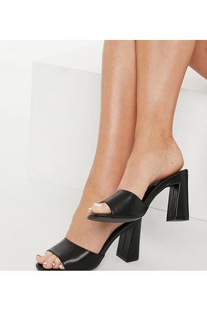 Glamorous Wide Fit Heeled mules in