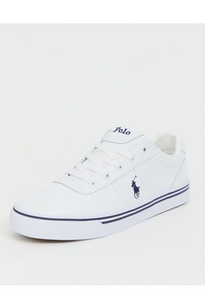 Polo Ralph Lauren Leather hanford trainers in with player logo