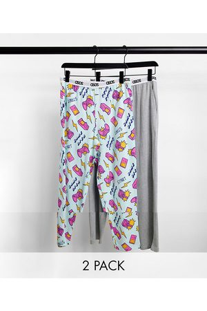 ASOS 2-pack lounge pants in gamer print-Multi