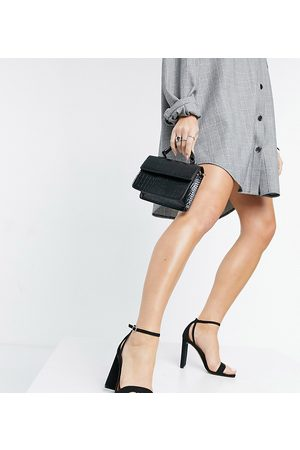 ASOS Wide Fit Noelle barely there block heeled sandals in
