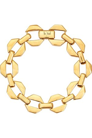 B-Tal Plated octagon chain bracelet