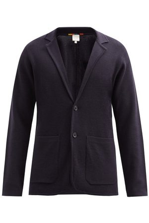 Paul Smith Single-breasted Wool Cardigan - Mens - Navy