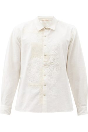 PÉRO Lace-appliqué Cotton Shirt - Mens
