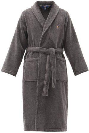 Polo Ralph Lauren Logo-embroidered Cotton-terry Bathrobe - Mens - Dark Grey