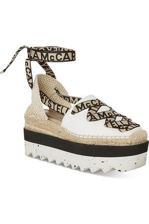 Stella McCartney Women's Gaia Logo Espadrille Platform Shoes