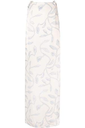 Jacquemus Leaves-pattern long skirt - Neutrals