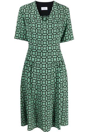 Salvatore Ferragamo Gancini Galoure-print silk dress