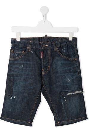 Dsquared2 TEEN distressed denim shorts