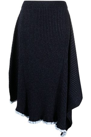J.W.Anderson Infinity metallic-thread knitted skirt