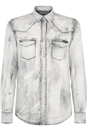 Dolce & Gabbana Bleach wash denim shirt - Grey