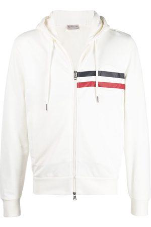 Moncler Striped detail logo hoodie
