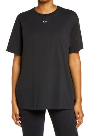 Nike Women's Essential Embroidered Swoosh Cotton T-Shirt