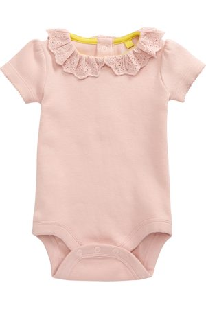 Boden Infant Girl's Embroidered Ruffle Collar Bodysuit