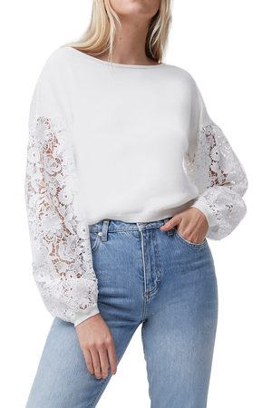 French Connection Women's Josephine Lace Knit Top