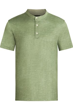 Bugatchi Men's Ooohcotton Short Sleeve Henley Shirt