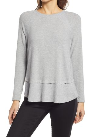 Everleigh Women's Cozy Ribbed Inset Layered Tunic